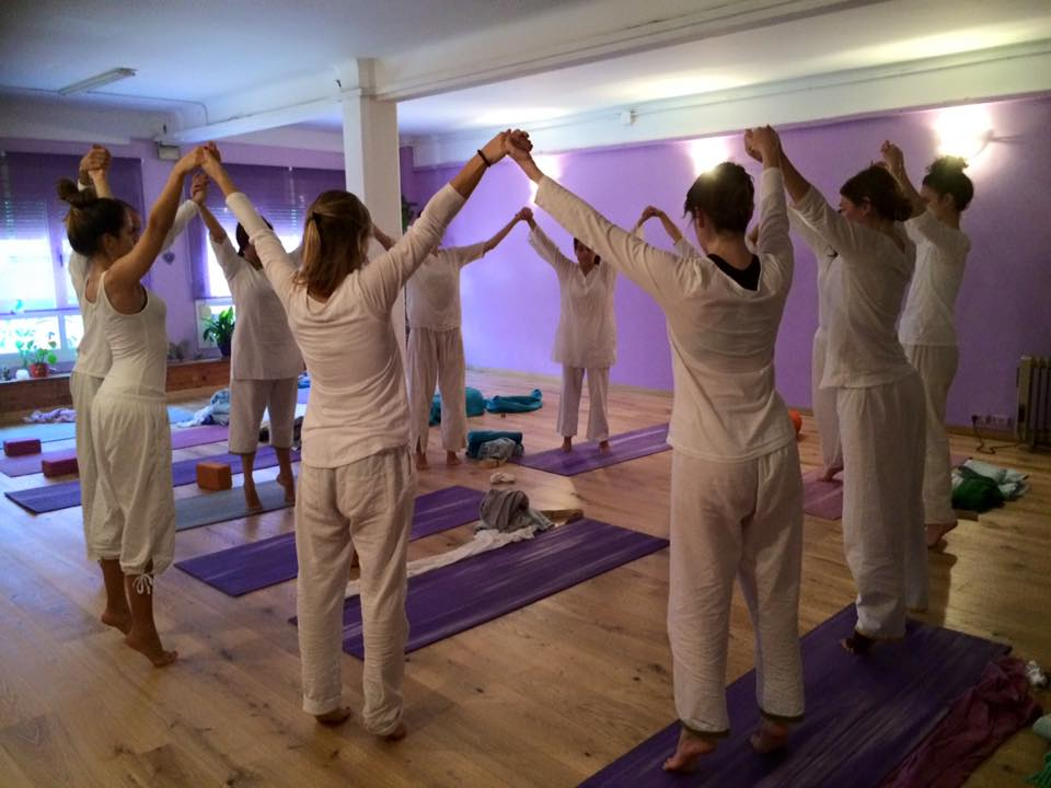 clase de yoga en poblenou