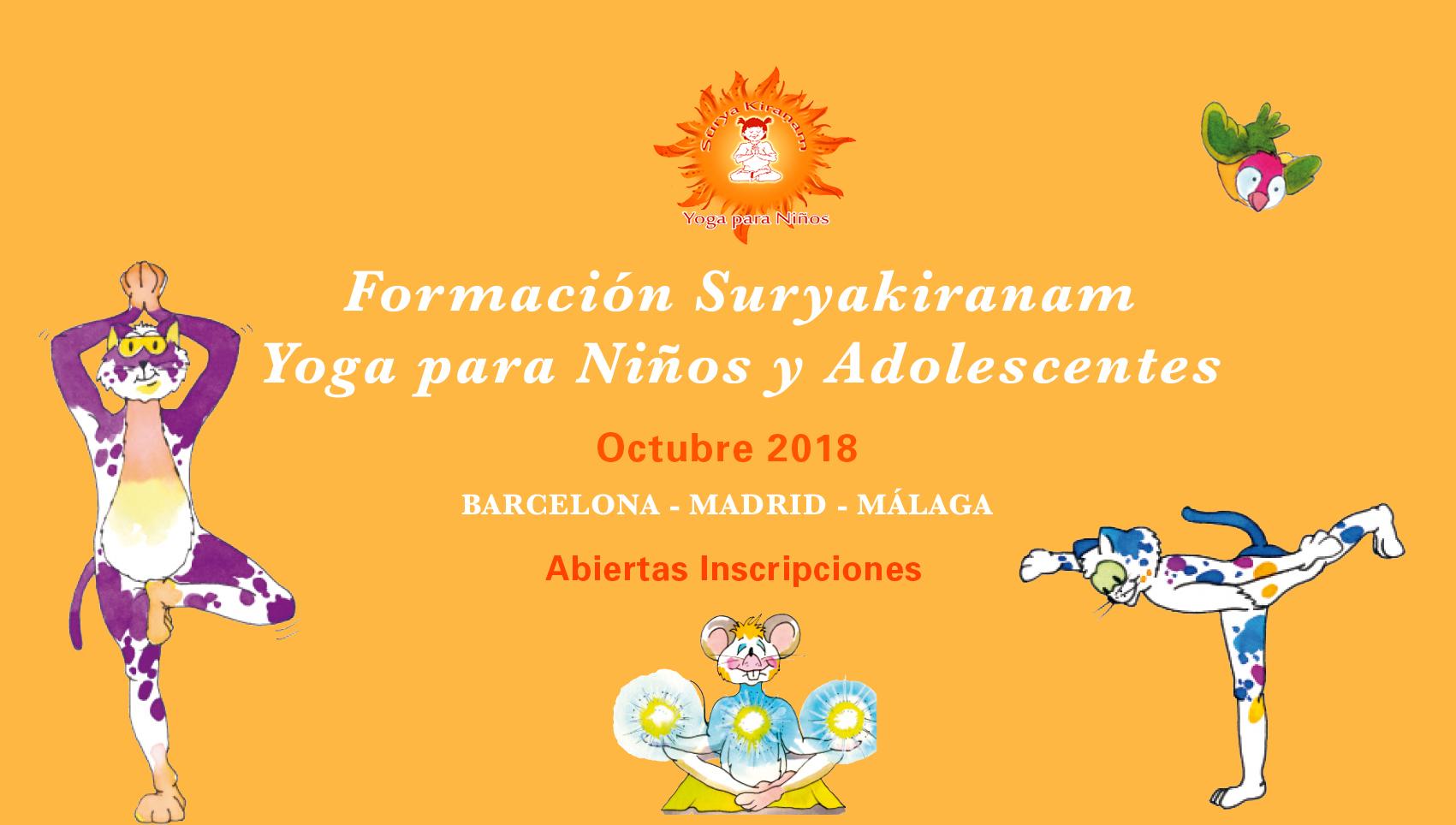 formacion metodo suryakiranam yoga para niños en barcelona madrid y malaga